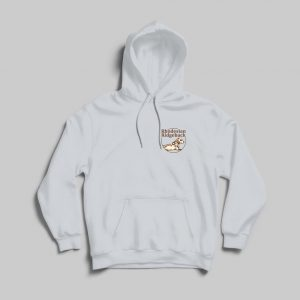 RR hoodie logo borst wit